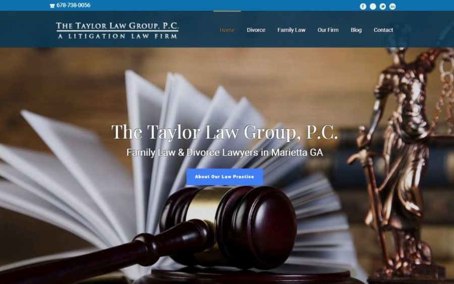 A great web design by Tiger SEO Marketing, Atlanta, GA: Responsive Website, Marketing Website , Legal , Wordpress