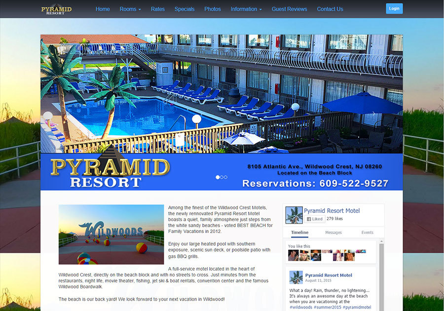 A great web design by James Royce, Las Vegas, NV:
