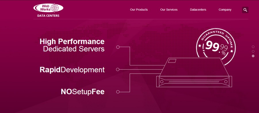 A great web design by Web Werks Data Centers, Mumbai, India:
