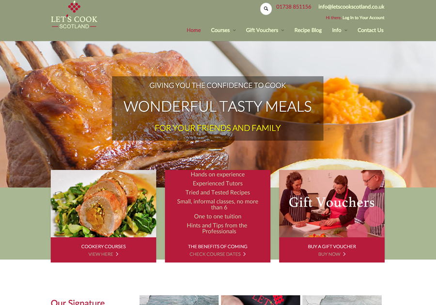 A great web design by Graphite Web Solutions, Blairgowrie, United Kingdom: