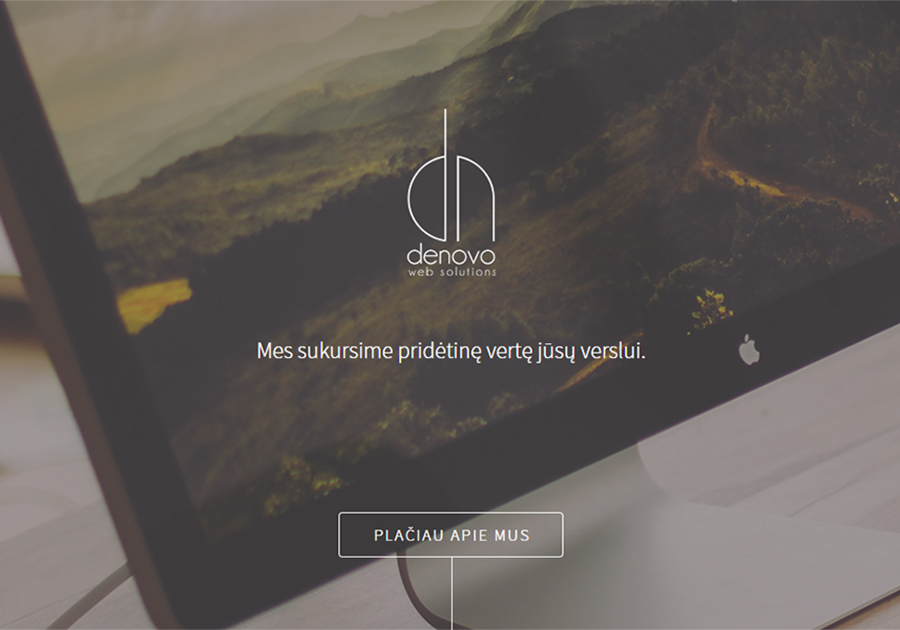 A great web design by Denovo, Vilnius, Lithuania: