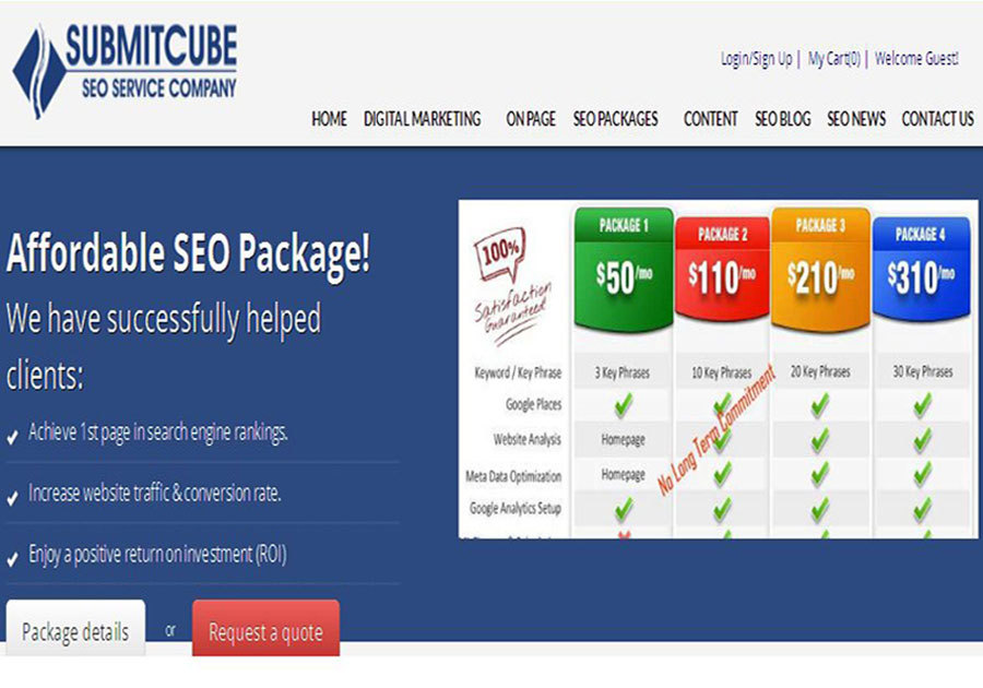 A great web design by Submitcube Digital Marketing Services, Miami, FL: