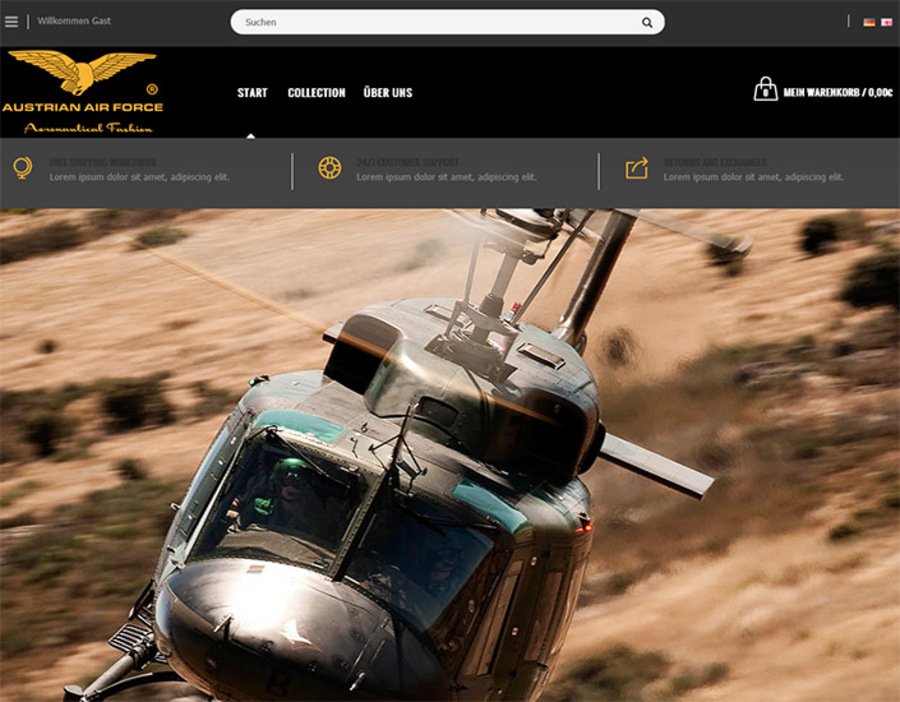 A great web design by Webcp, Linz, Austria: Responsive Website, E-Commerce , Fashion