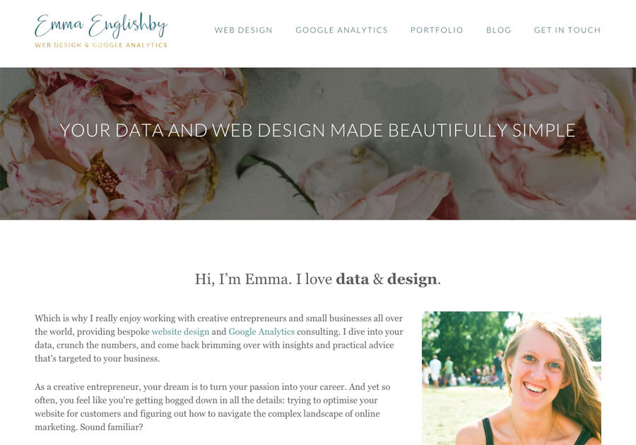 A great web design by Emma Englishby, Berlin, Germany: Responsive Website, Portfolio , Wordpress
