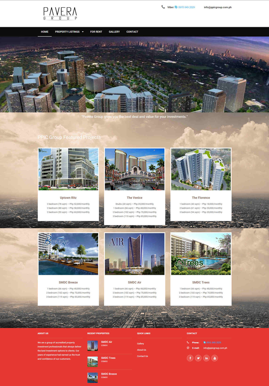A great web design by QSolutionz, Manila, Philippines: