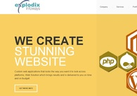 A great web design by Explodix, Ahmedabad, India:
