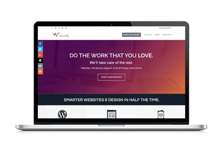 A great web design by Vizually, Boston, MA: