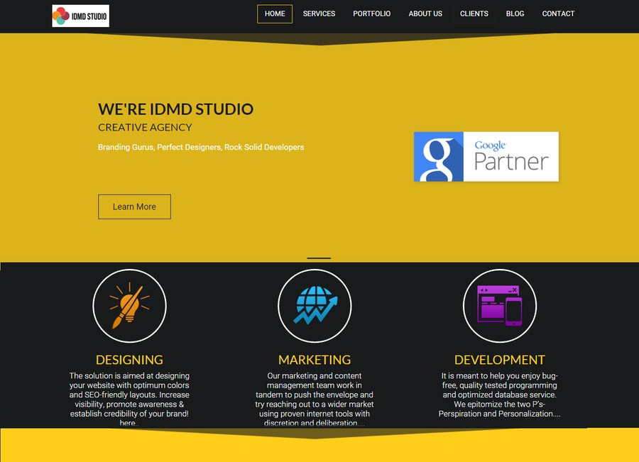 A great web design by IDMD Studio, New Delhi, India: Responsive Website, Marketing Website , Marketing , Wordpress