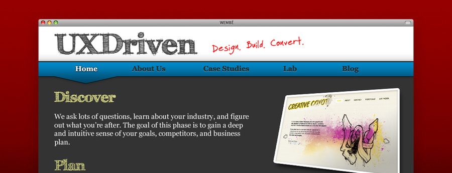 A great web design by UXDriven, Houston, TX: