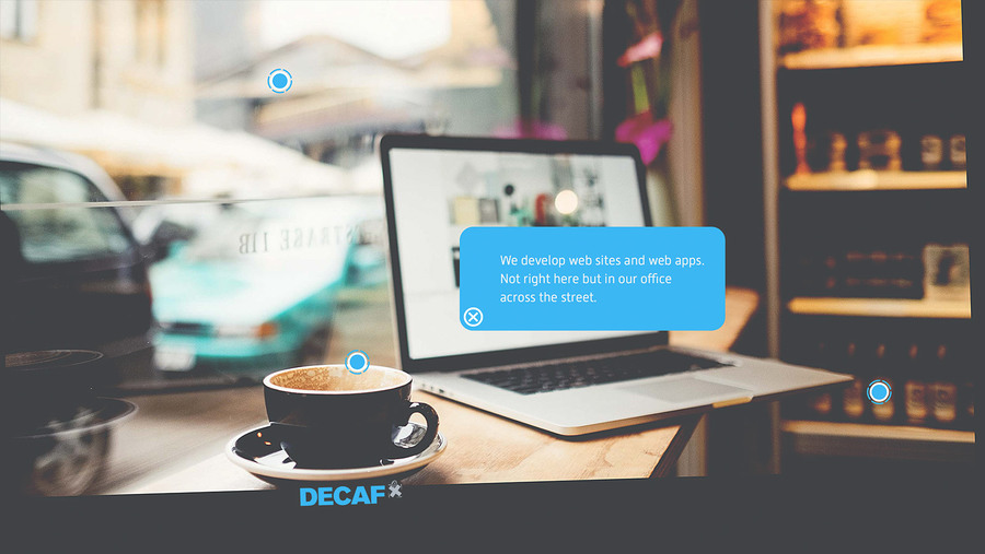 A great web design by DECAF, Berlin, Germany: