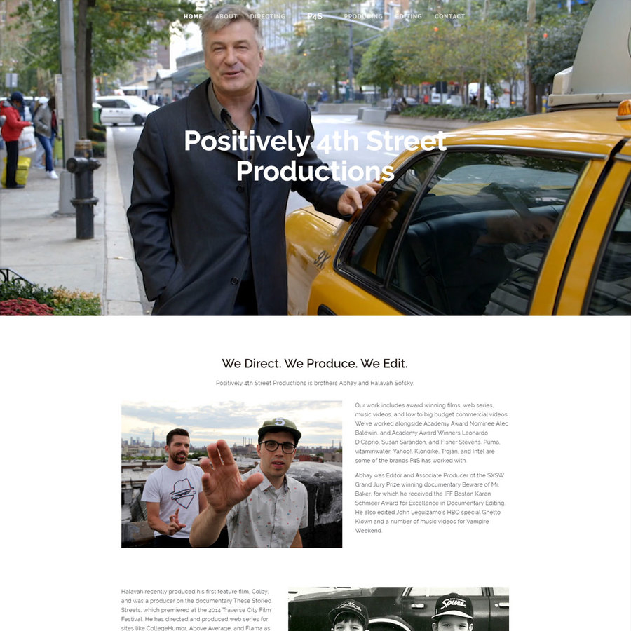 A great web design by Outer Base, Pittsburgh, PA: Responsive Website, Portfolio , Film & Video