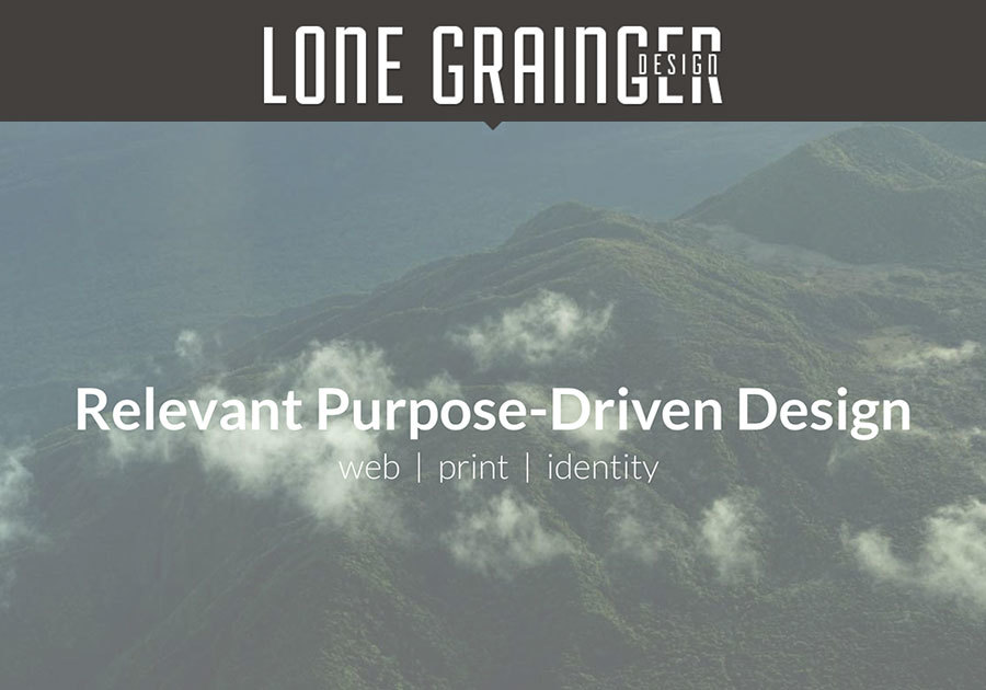 A great web design by Lone Grainger Design, Kula, HI: