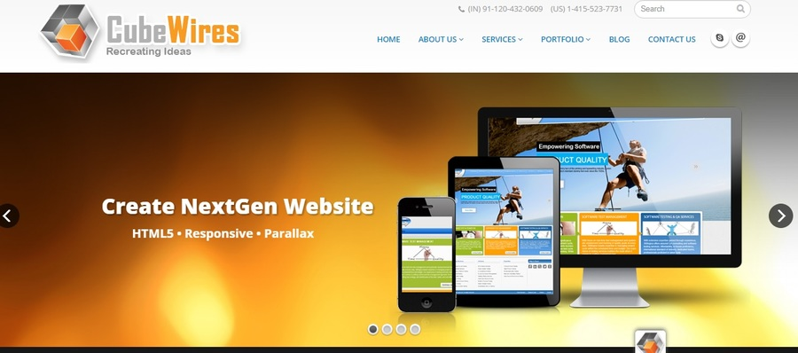 A great web design by CubeWires, Noida, India: