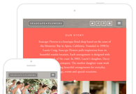 A great web design by SECOND+WEST, Virginia Beach, VA: