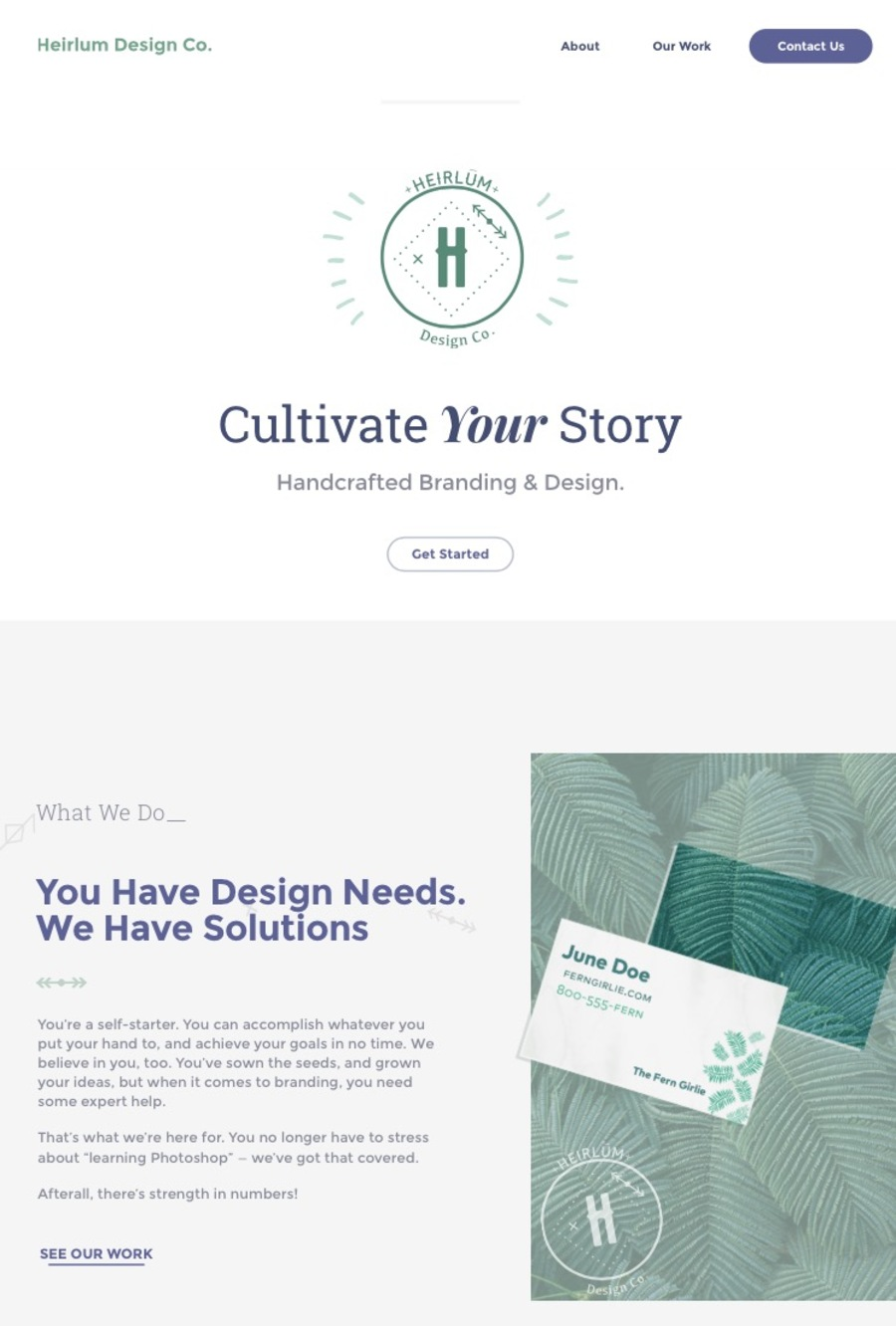 A great web design by Heirlūm Design Co., Chattanooga, TN: