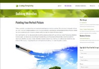 A great web design by Living Simplicity LLC, Milwaukee, WI: