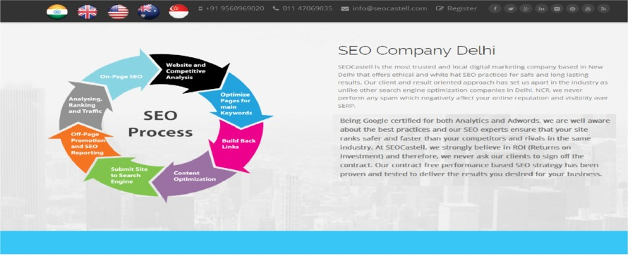 A great web design by SEOCastell, New Delhi, India: