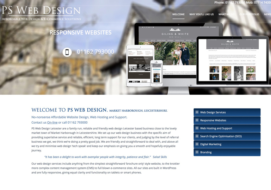 A great web design by PS Web Design, Market Harborough, United Kingdom:
