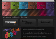 A great web design by Eficacy Designs, Mumbai, India: