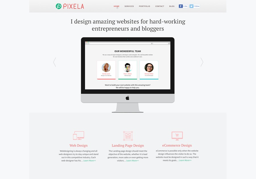 A great web design by DesignerMinhaj, Florida, Mexico: