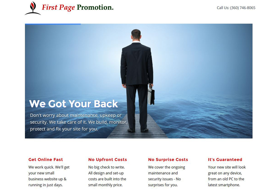 A great web design by First Page Promotion, Bellingham, WA:
