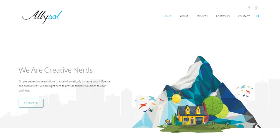 A great web design by Allysol, Mumbai, India: