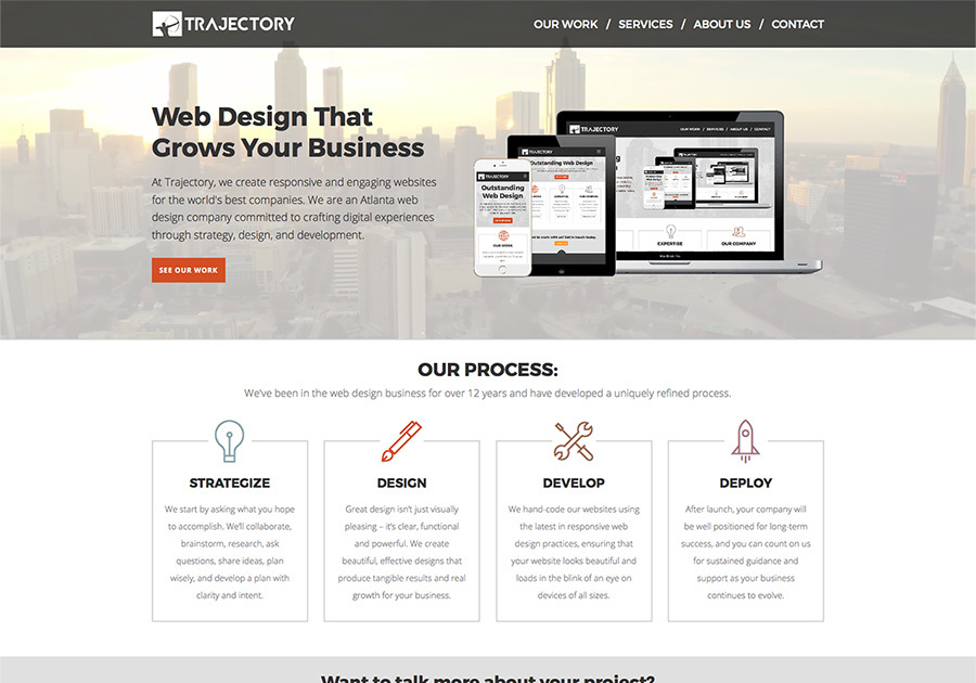 A great web design by Trajectory Web Design, Atlanta, GA: Responsive Website, Internet , PHP