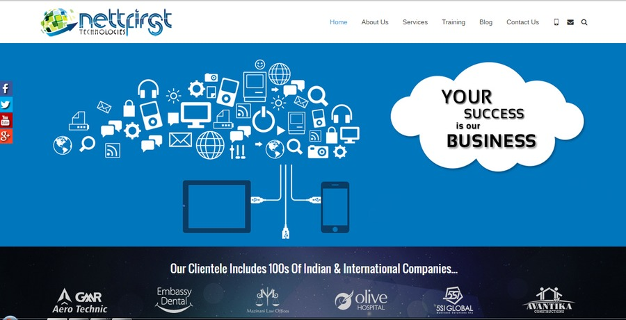 A great web design by NettFirst Technologies, Hyderabad, India: