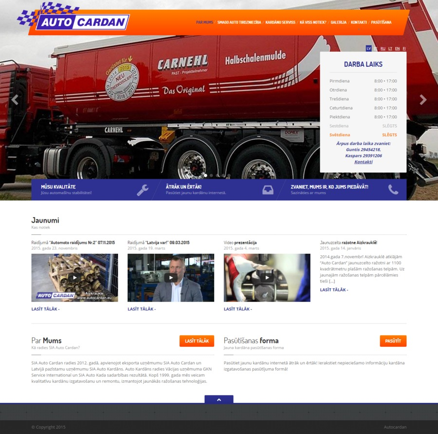 A great web design by Bewus Web development, Riga, Latvia: Responsive Website, Other, Automotive , Wordpress