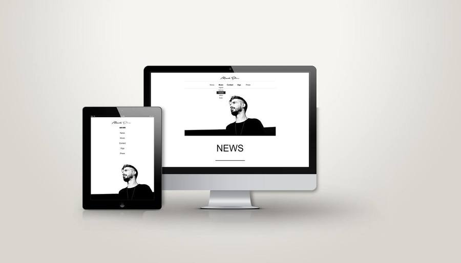 A great web design by Tehvibes Designs, Athens, Greece: Responsive Website, Portfolio , Entertainment , Static HTML