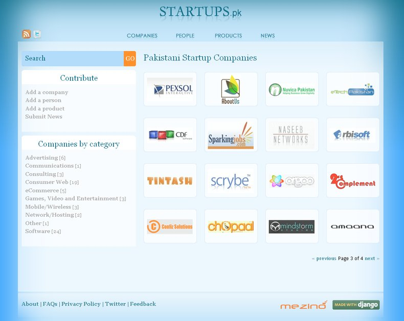 A great web design by Mezino Technologies, Lahore, Pakistan: