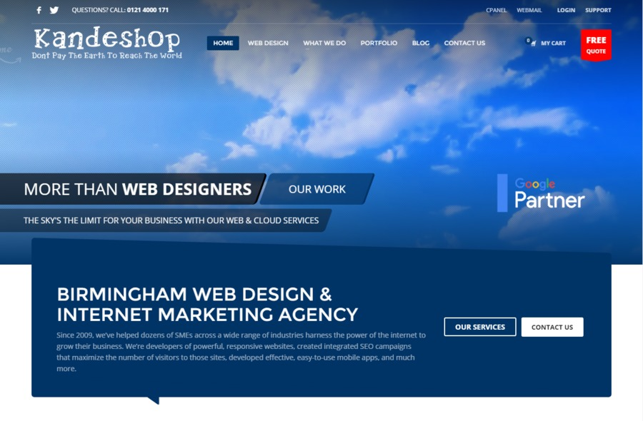 A great web design by Kandeshop Ltd, Birmingham, United Kingdom: