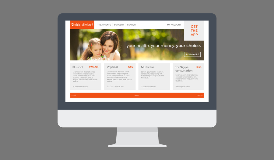 A great web design by AHF, Los Angeles, CA: