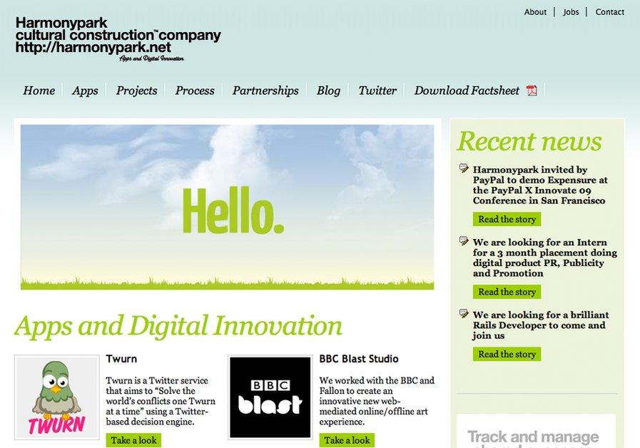 A great web design by Harmonypark, London, United Kingdom: