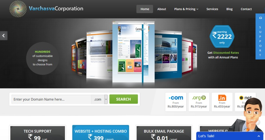 A great web design by Varchasva Corporation, Mumbai, India: