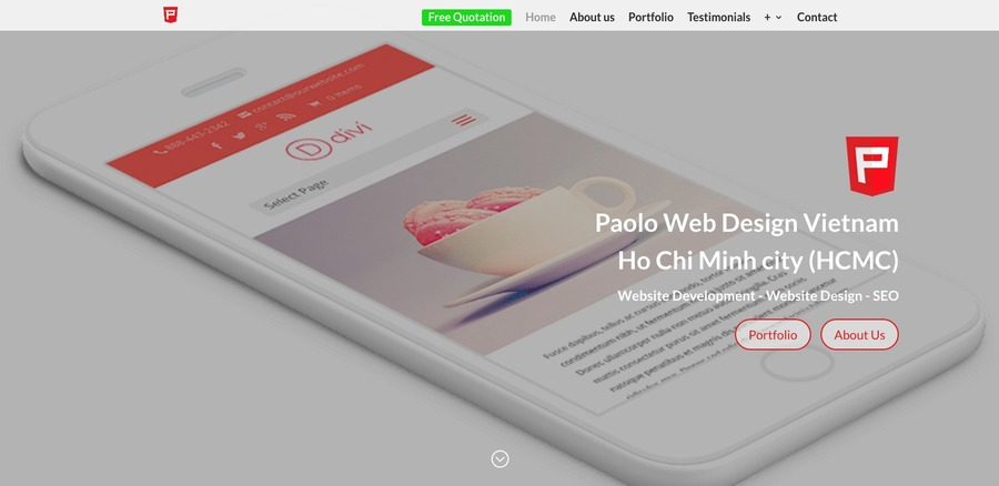 A great web design by Paolo Web Design, Ho Chi Minh City, Viet Nam: Responsive Website, E-Commerce , Internet , Wordpress