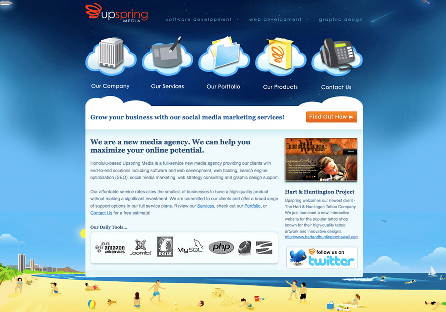 A great web design by Upspring Media, Honolulu, HI: