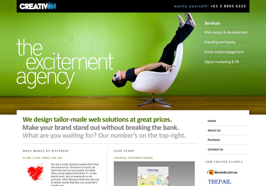 A great web design by CreativON, Sydney, Australia: