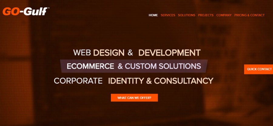 A great web design by GO-Gulf Dubai, Dubai, United Arab Emirates:
