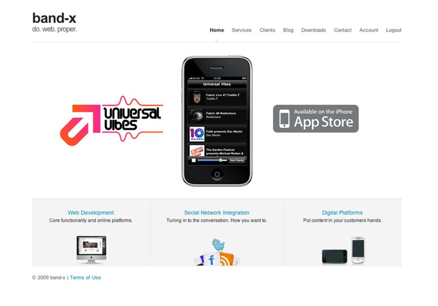 A great web design by band-x, Newcastle, United Kingdom: