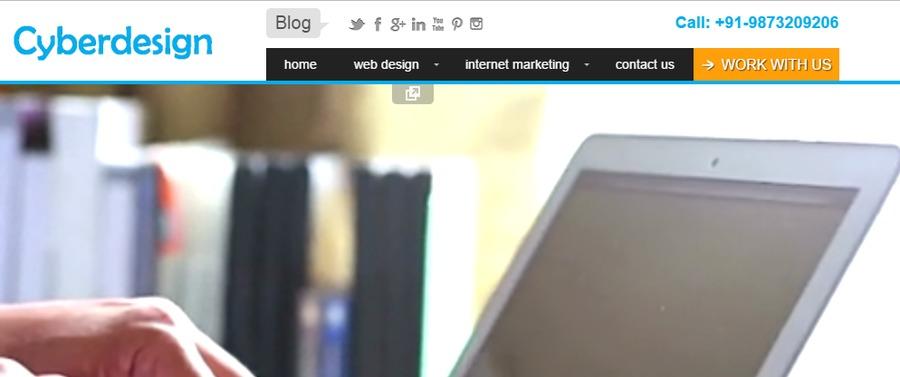 A great web design by Cyber Design, Delhi, India: