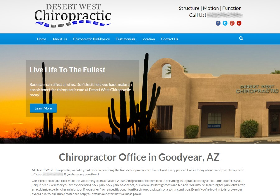 A great web design by Atlas Marketing Solutions, Phoenix, AZ: