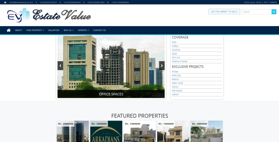 A great web design by Falah Technologies, Karachi, Pakistan: