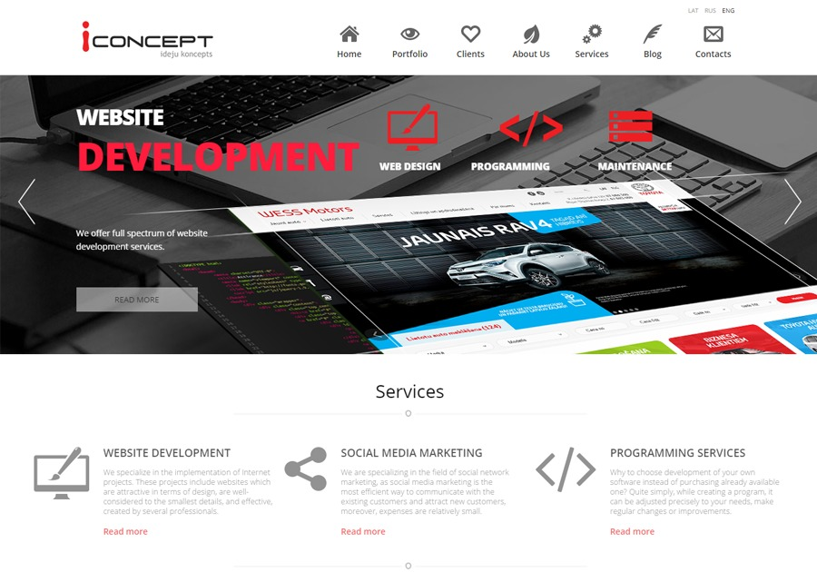 A great web design by iConcept Latvia, Riga, Latvia: