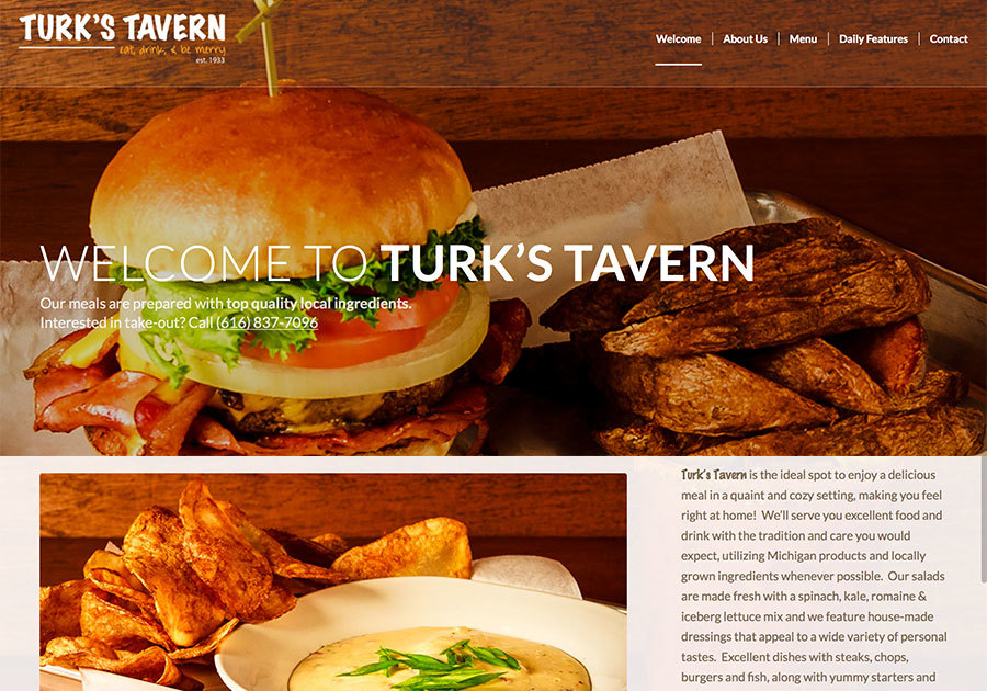 A great web design by Cinch Media, Grand Haven, MI: