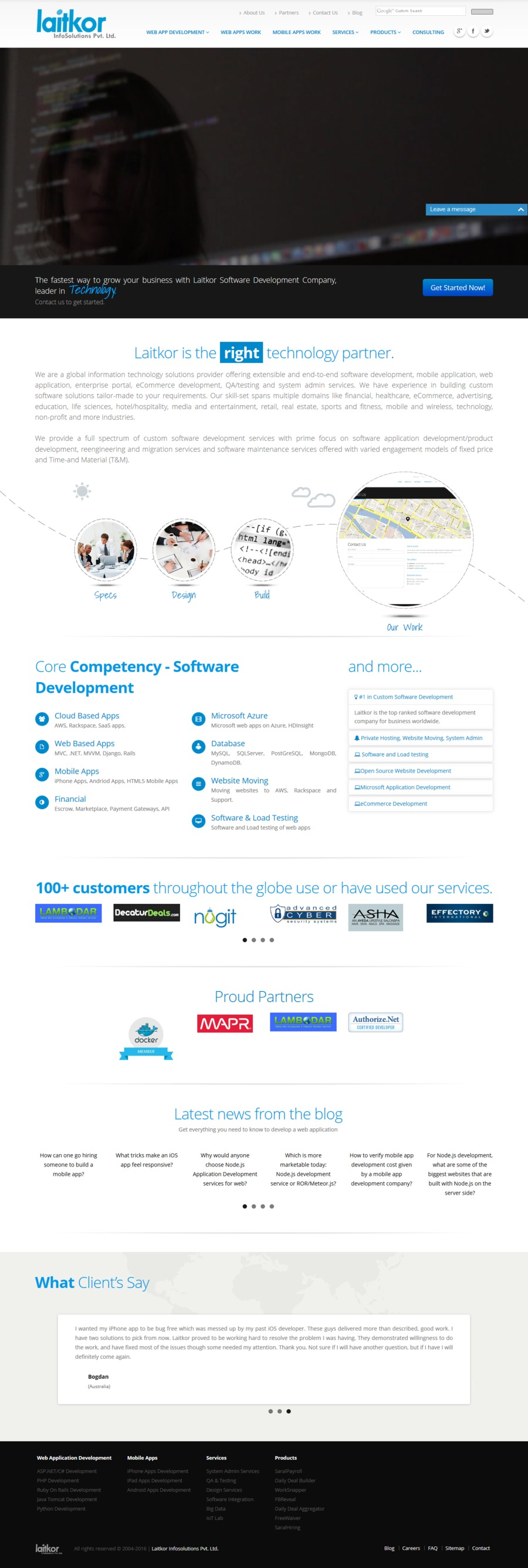 A great web design by Laitkor InfoSolutions Pvt. Ltd., Lucknow, India: