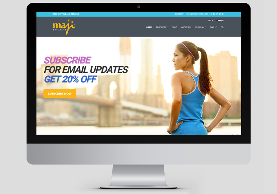 A great web design by Newtec Web Studio, San Francisco, CA: Responsive Website, E-Commerce , Sports & Fitness , Other