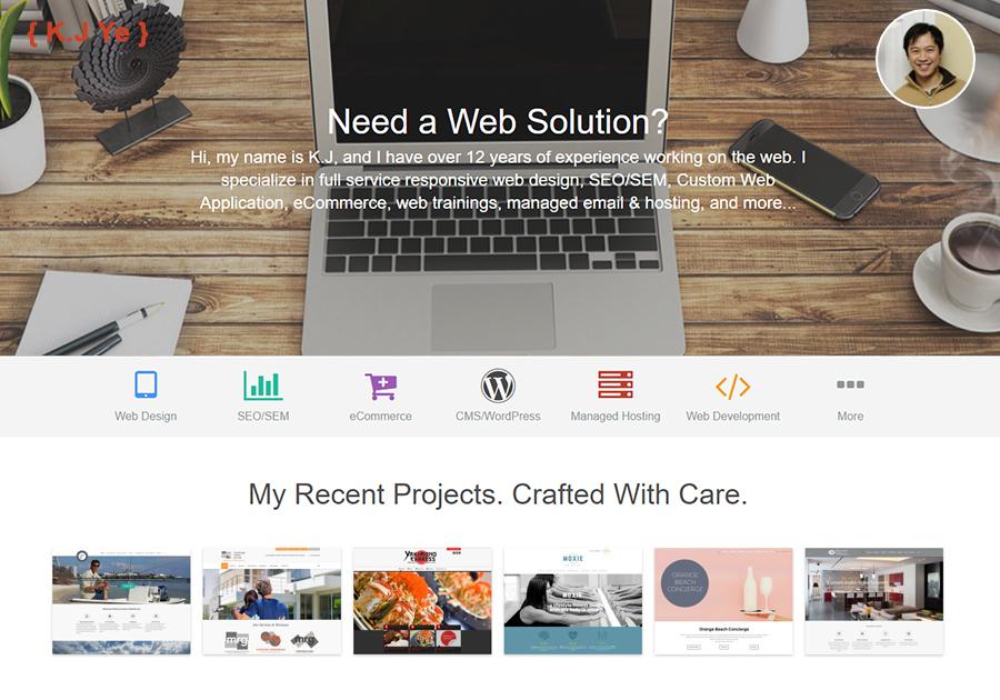 A great web design by K.J Ye (Websites & SEO), Atlanta, GA: Responsive Website, Web Application , Consulting , Wordpress