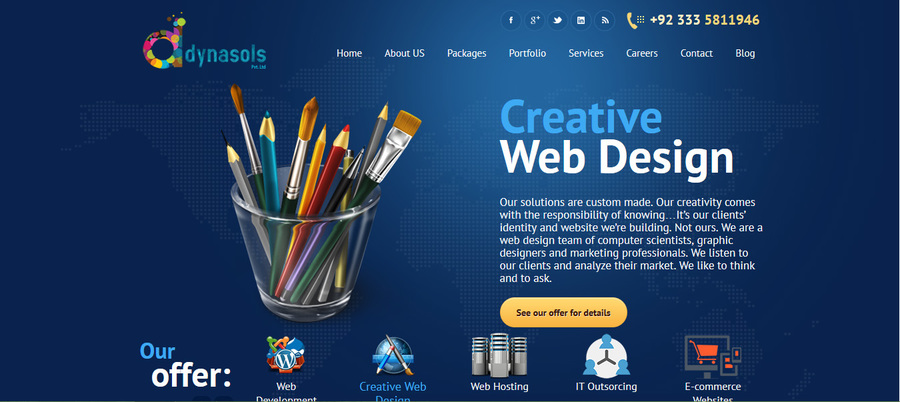 A great web design by Dynasols (Pvt.) Ltd., Islamabad, Pakistan: