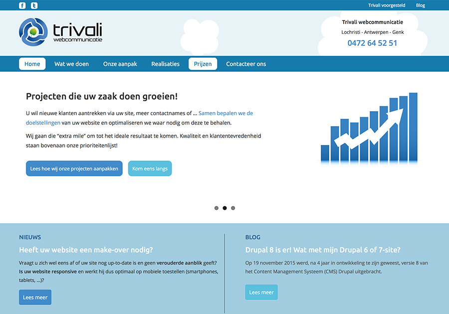 A great web design by Trivali, Lochristi, Belgium: